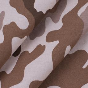 Ткань на отрез бязь ГОСТ Шуя 220 см 20126/4 Камуфляж цвет кофе фото