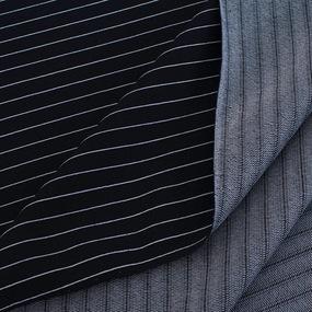 Ткань на отрез футер с лайкрой Жаккард цвет темно-синий фото