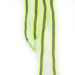 Шнур плоский салатовый со светоотражающей лентой 120см уп 2 шт фото