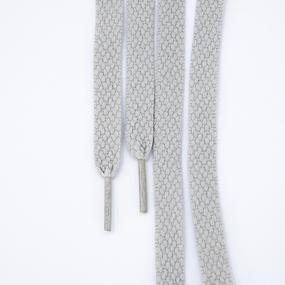 Шнур плоский серый 120см уп 2 шт фото
