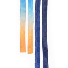 Шнур плоский сине-оранжевый уп 2 шт фото