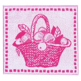 Салфетка махровая 1442 Корзина 30/30 см цвет розовый фото