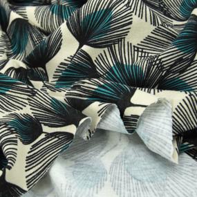 Ткань на отрез кулирка R3323-V1 Перо павлина фото