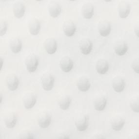 Плюш Минки Китай 180 см на отрез цвет молочный фото