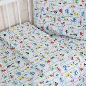 Постельное белье в детскую кроватку 13180/1 Дорога перкаль фото