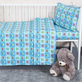 Постельное белье в детскую кроватку 13181/1 Авто перкаль фото