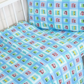 Постельное белье в детскую кроватку из перкаля 13181/1 Авто фото