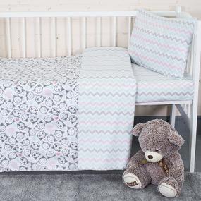 Постельное белье в детскую кроватку 13178/1 + 13166/1 перкаль фото