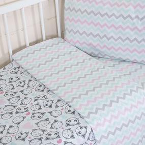 Постельное белье в детскую кроватку из перкаля 13178/1 + 13166/1 фото