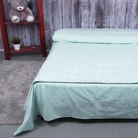 Постельное белье из перкаля 204936 Эко 6 светло-бирюзовый 1.5 сп с 1 нав. 70/70 фото