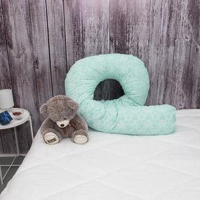 Подушка для беременных U-образная 402/16 Дамаск цвет мята фото