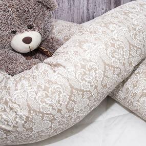 Подушка для беременных U-образная 402/18 Дамаск цвет кофе фото