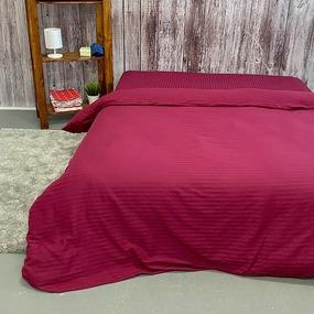 Пододеяльник из страйп-сатина полоса 1х1 120 гр/м2 084/2 цвет бордовый, 2-x спальный фото