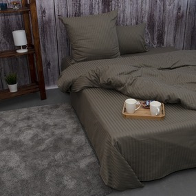 Пододеяльник из страйп-сатина полоса 1х1 120 гр/м2 977/2, 2-x спальный фото
