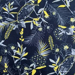 Ткань на отрез кулирка R3200-V1 Флорис цвет синий фото