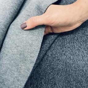 Ткань на отрез футер 3-х нитка компакт пенье меланж цвет синий фото
