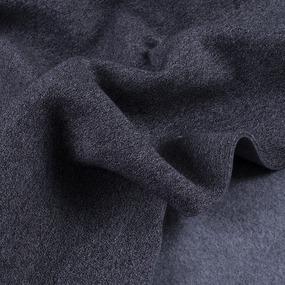 Ткань на отрез футер 3-х нитка компакт пенье меланж цвет черный фото
