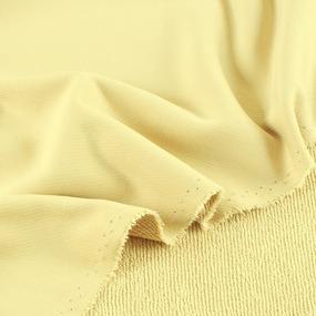Ткань на отрез футер 3-х нитка диагональный цвет светло-желтый фото