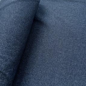 Ткань на отрез кашкорсе 3-х нитка с лайкрой меланж цвет синий фото