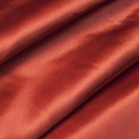 Шелк искусственный 100% полиэстер 220 см цвет оранжевый фото