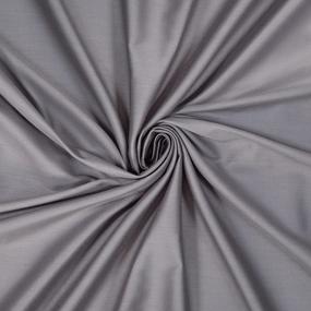 Ткань на отрез сатин гладкокрашеный 220 см 70100-1 цвет графит фото