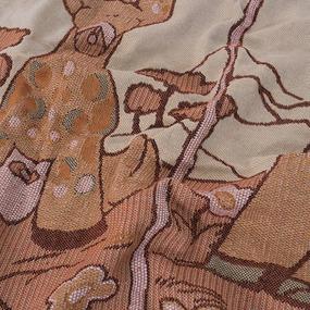 Покрывало гобелен детское Жирафы оранжевый 125/150 фото