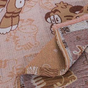 Покрывало гобелен детское Тигры оранжевый 125/150 фото