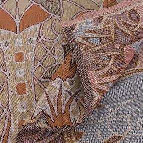 Покрывало гобелен детское Тропики оранжевый 125/150 фото