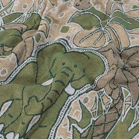 Покрывало гобелен детское Тропики зеленый 125/150 фото