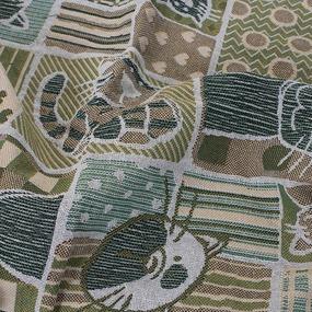 Покрывало гобелен детское Коты зелный 125/150 фото
