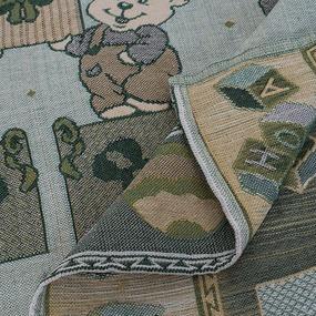 Покрывало гобелен детское Мишки зеленый 125/150 фото