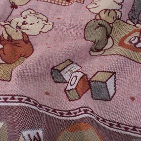 Покрывало гобелен детское Мишки красный 125/150 фото