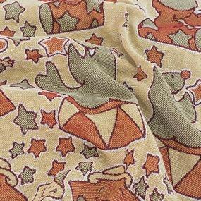 Покрывало гобелен детское Цирк Клоун красный 125/150 фото