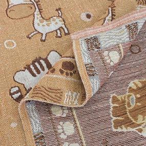 Покрывало гобелен детское Зебры оранжевый 125/150 фото