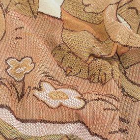 Покрывало гобелен детское Драконы оранжевый 125/150 фото