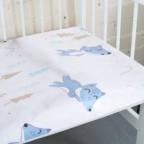 Простынь бязь детская 8115 Лисы 110/150 см фото