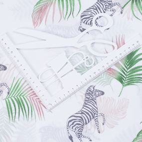 Перкаль 150 см набивной арт 140 Тейково рис 13103 вид 1 Тропическое лето фото