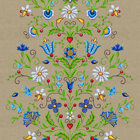 Дорожка 50 см набивная арт 61 Тейково рис 30162 вид 1 Цветочный лен фото