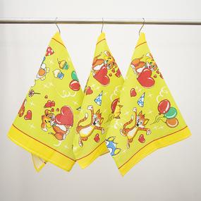Набор вафельных полотенец 3 шт 45/60 см 329А цвет салатовый фото