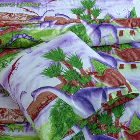 Детское постельное белье из бязи 1.5 сп 7336/1 Удивительный мир Дино с 1-ой нав. 70/70 фото