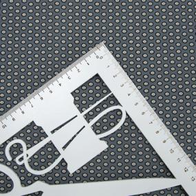 Ткань на отрез супер софт 2416 Горох на сером фото
