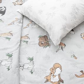 Детское постельное белье из бязи 1.5 сп 877/3 Зверята фото