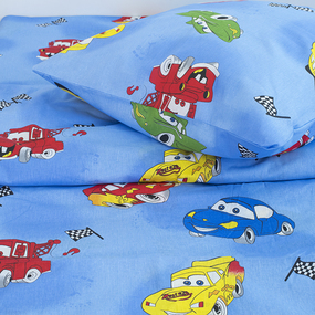 Постельное белье детское 399-1 Машинки 1.5 сп фото