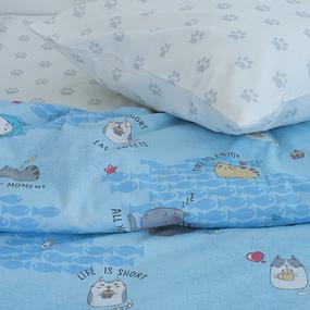 Постельное белье детское 3033-1 Котики 1.5 сп фото