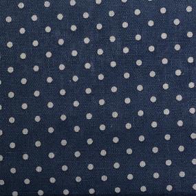 Ткань на отрез лен TBY-DJ-33-12 Горох на синем фото