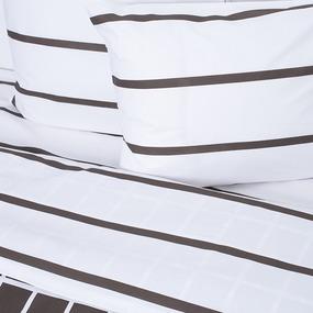 Постельное белье 28254/2 Клетка коричневый 1.5 сп поплин фото