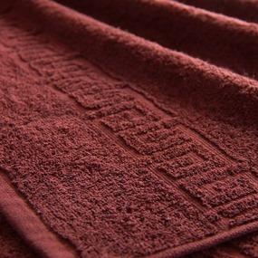Полотенце махровое Туркменистан 40/70 см цвет горячий шоколад фото