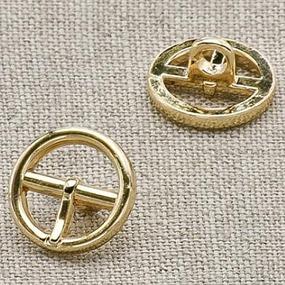 Пуговица металл ПМ22 10мм золото пряжка уп 12 шт фото
