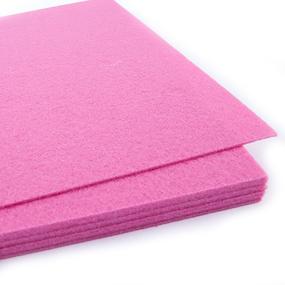 Фетр листовой жесткий IDEAL 1 мм 20х30 см FLT-H1 упаковка 10 листов цвет 614 розовый фото