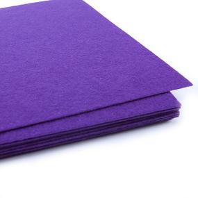 Фетр листовой жесткий IDEAL 1 мм 20х30 см FLT-H1 упаковка 10 листов цвет 620 фиолетовый фото